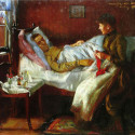 Painting of a sickly man being tended to. Is the PR industry as healthy as it used to be?