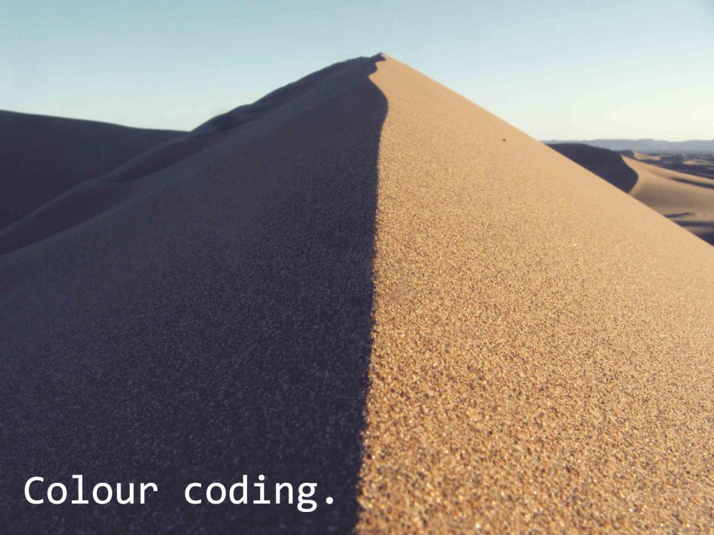 Colour Coding.