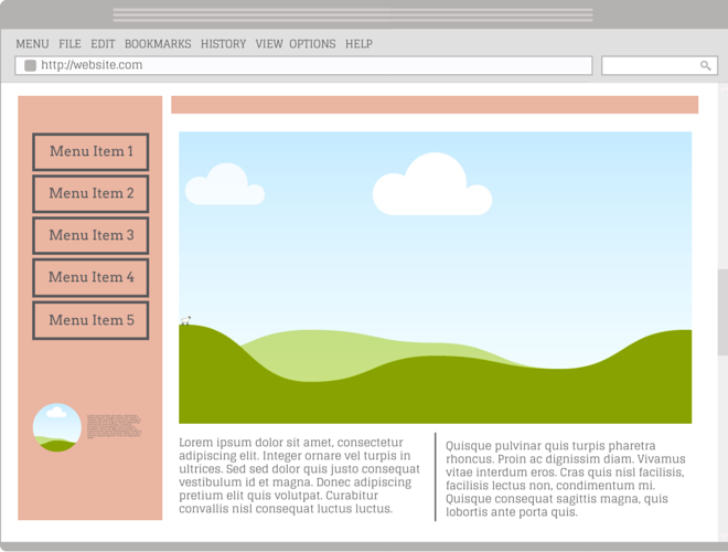 Lorem ipsum stock image website.