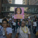 Image of march to honor Sandra Bland and protest deaths of black women in police custody taken July 31, 2015 by Fibonacci Blue, originally posted on Flickr.